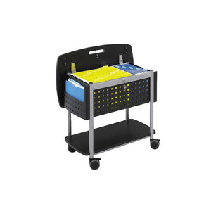 Scoot Mobile File Cart with Locking Top