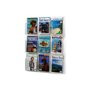 9-Magazine Clear Wall Display