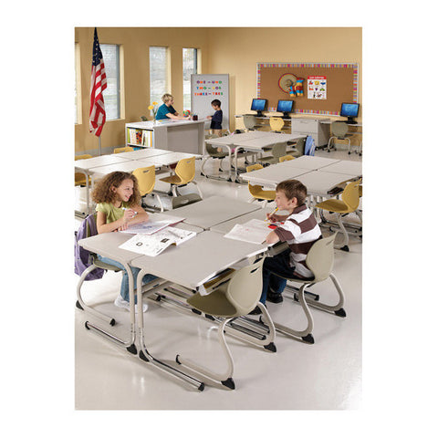 Intellect Wave Height-Adjustable School Desk
