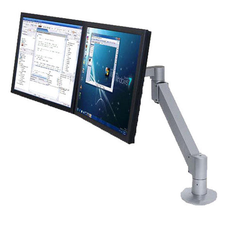 "Dual Adjustable LCD Arm with 27"" Extension, for Wall, Pole, or Desk Mount"