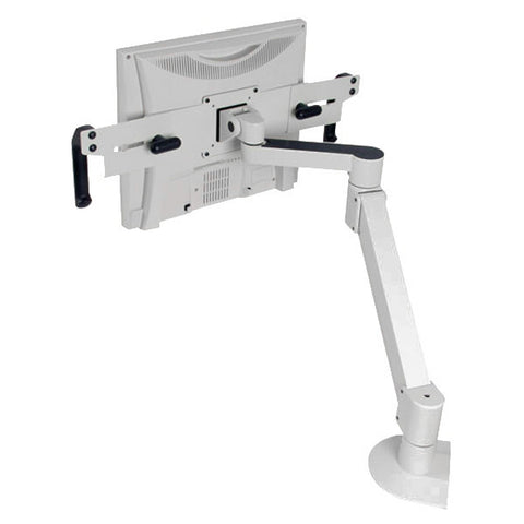"Healthcare Monitor Arm with Handles, 27"" Range - for Wall, Pole, or Desk Mount"