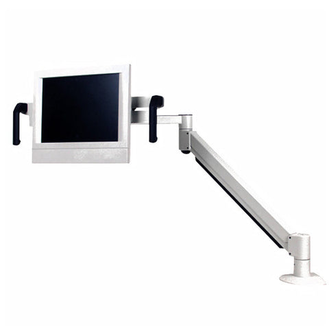 Long-Reach Healthcare Monitor Arm with Handles, for Wall, Pole, or Desk Mount