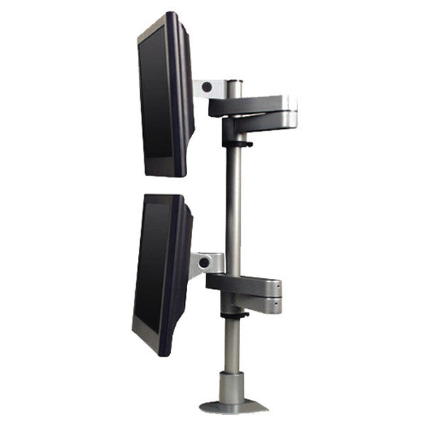 articulating dual monitor arms long reach wall mounting or desk mount rh onestopergonomics com arctic z2 desk mount dual monitor arm loctek dual monitor arm desk monitor mounts