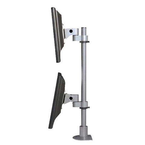 "Dual Vertical 2 Monitor Stand for Desk Mount or Wall Mount, 28"" H"