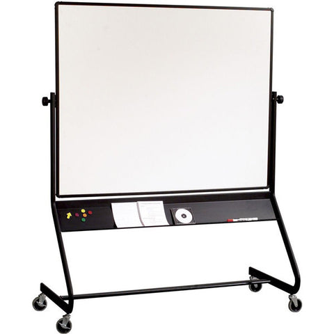 Euro Frame Double Sided Mobile Whiteboard - 4' x 6'