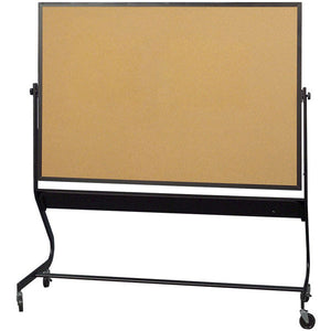Euro Frame Reversible Mobile Cork Board and Projection Board - 4' x 6'