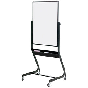 "Euro Frame Reversible Mobile Whiteboard and Projector Board - 40"" x 30"""