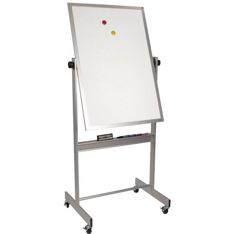 "Deluxe Double Sided Mobile Whiteboard with Aluminum Frame - 40"" x 30"""