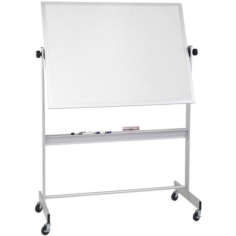 Deluxe Reversible Mobile White Board / Cork Board with Choice of Frame - 4' x 6'