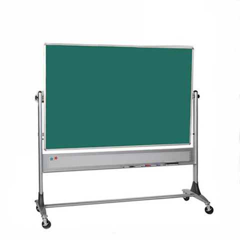Platinum Frame Reversible Chalk Board / Cork Board - 4' x 6'
