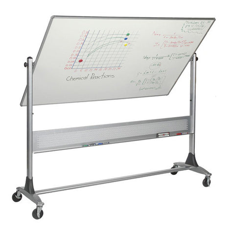 Platinum Frame Reversible Mobile Whiteboard and Projection Board - 4' x 6'