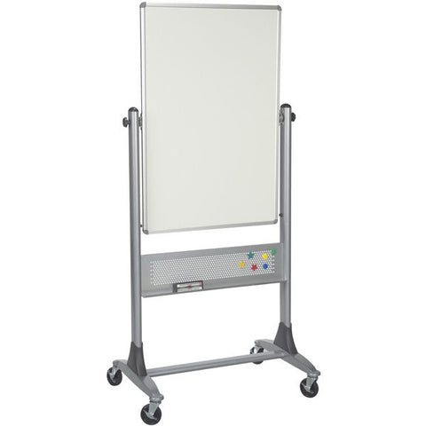 "Platinum Frame Double-Sided Mobile Whiteboard - 40"" x 30"""
