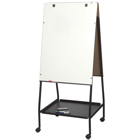 Double-Sided Height-Adjustable Mobile Presentation Easel