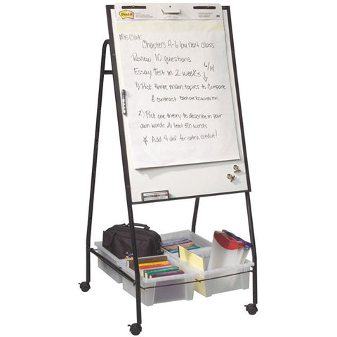 Mobile Height-Adjustable Whiteboard Storage Easel
