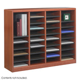 Wood Mail or Literature Organizers with Removable Shelves - 3 Size Models