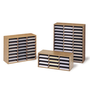economy model woodgrain desk mail sorters 3 sizes