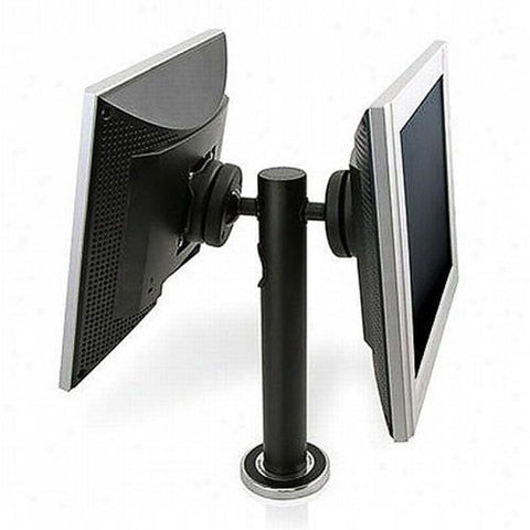 Dual Back-2-Back Rotating POS LCD Display, Desk Mount - Black