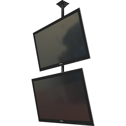 "Dual screen ceiling mounted monitor system with VESA mounting interface for 32"" to 55""+ displays"