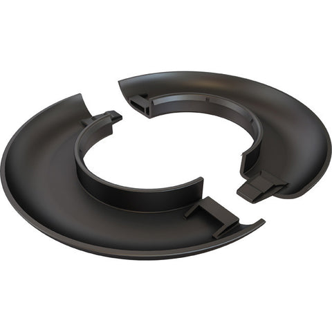 Black decorative escutcheon plate