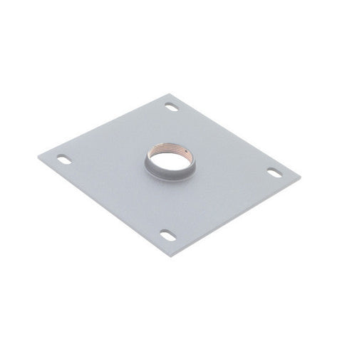 "8"" x 8"" Ceiling Plate for 1-1/2"" NPT Fitting - Silver"