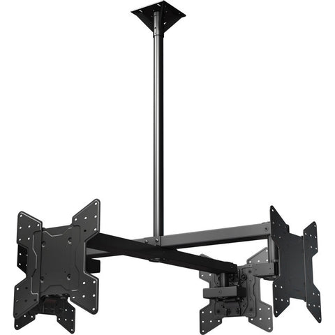 "Ceiling mounted Quad display system for 32"" to 55""+ monitors includes a VESA mounting interface"