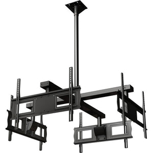 "Ceiling mounted Quad display system for 37"" to 63""+ monitors includes a Universal mounting interface"