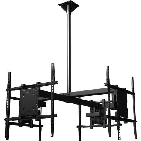 "Ceiling Mounted Quad Display System for 37"" to 65"" Monitors (Includes a Universal Mounting Interface)"