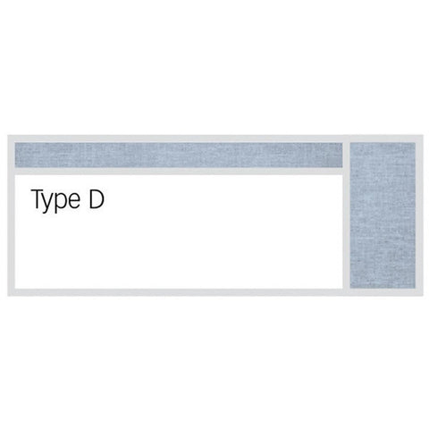 Dry Erase Markerboard and Tack Board Combination - Type D
