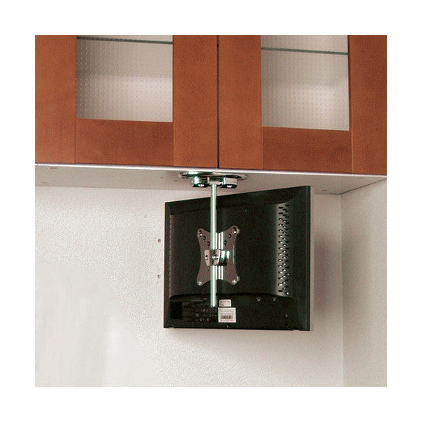 under cabinet tv mount flip cabinet tv mount for 10 quot to 18 quot lcds 27542