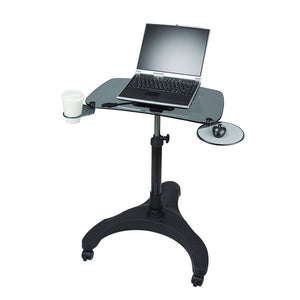 Pop Desk--Sit-Stand Glass Mobile Laptop Desk