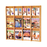 12-Magazine or 24-Brochure Oak Wall Display