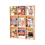 9-Magazine Oak Wall Display