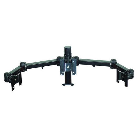 Articulating Arm Triple Monitor Mount with Choice of Base