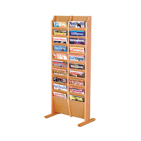 20-Magazine Oak Floor Rack