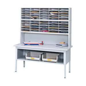 Steel Mail Table with Modular Mail Sorter