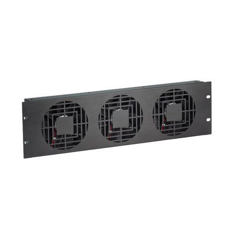 Fan Panel for Enclosed Server Rack - 3U, 3 Fans, 300 CFM