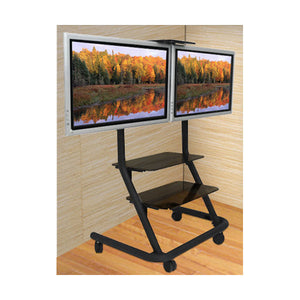 "Dual Display Video Conferencing Cart - for 42"" TV Screens"