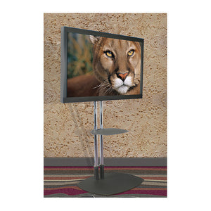 "Dual Pole TV Floor Stand with Tilt Mount - for 37"" to 63"" Displays"