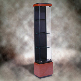Quantum Series Lighted Tower Display Case