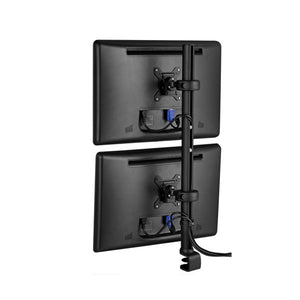 "Spacedec Quick-Shift Desk Top Pole Mount Assembly for 2 LCD Monitors Vertically - 30"" H"