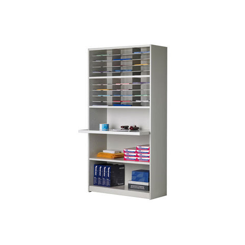 Mailflow-To-Go 30-Slot Mail Organizer and Supplies Cabinet