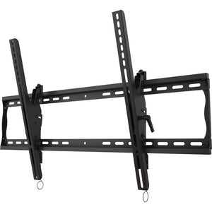 "Universal tilting wall mount for 37"" to 63""+ flat panel screens with post installation leveling"