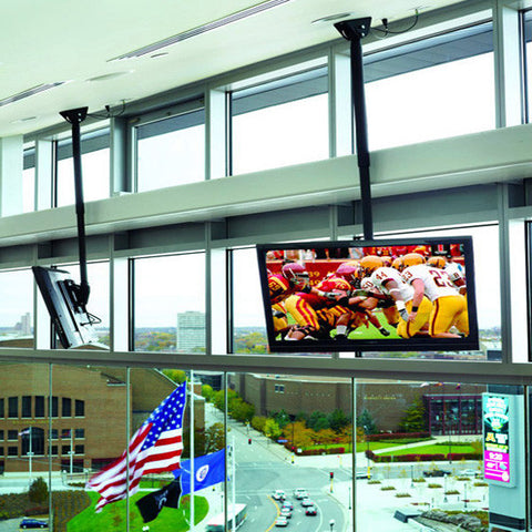 "Adjustable TV Ceiling Mount for 26"" to 55"" Screens - Variable Lengths"