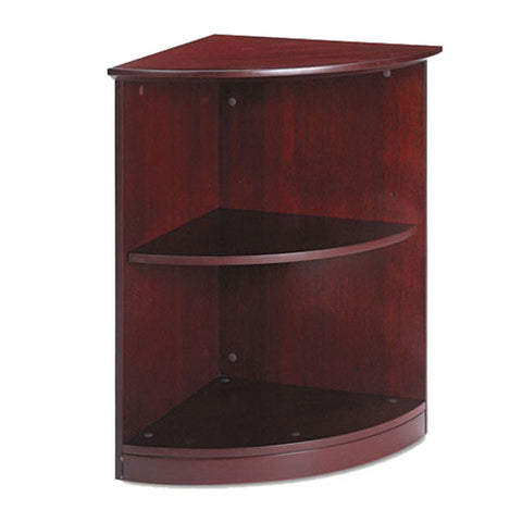 "Napoli Veneer Series Quarter Round 2-Shelf Bookcase, 19"" x 19"" x 29-1/2"""