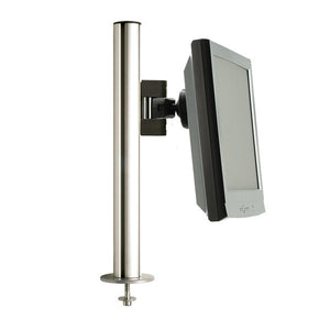 "Tetra 17-1/2"" Desk Mount Pole with Direct Monitor Mount"