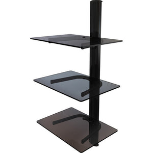 Triple shelf wall system