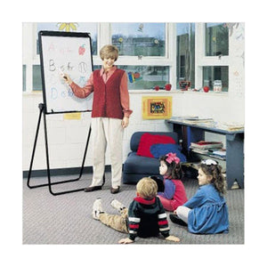 Adjustable Steel-Frame Table Top or Freestanding Easel with Double-Sided Whiteboard