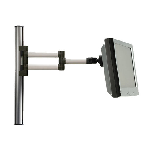 "Tetra Wall-Mounted Extrusion Pole with Heavy-Duty Folding LCD Arm - 17"" H"