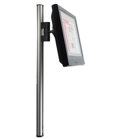 "Tetra Wall-Mounted Extrusion Pole with Sliding LCD Mount - 35"" H"