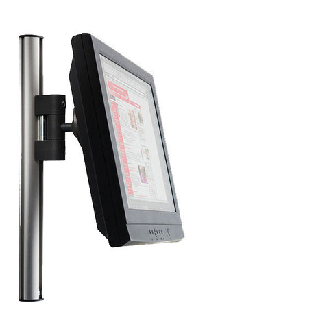 "Tetra Wall-Mounted Extrusion Pole with Sliding LCD Mount - 17"" H"